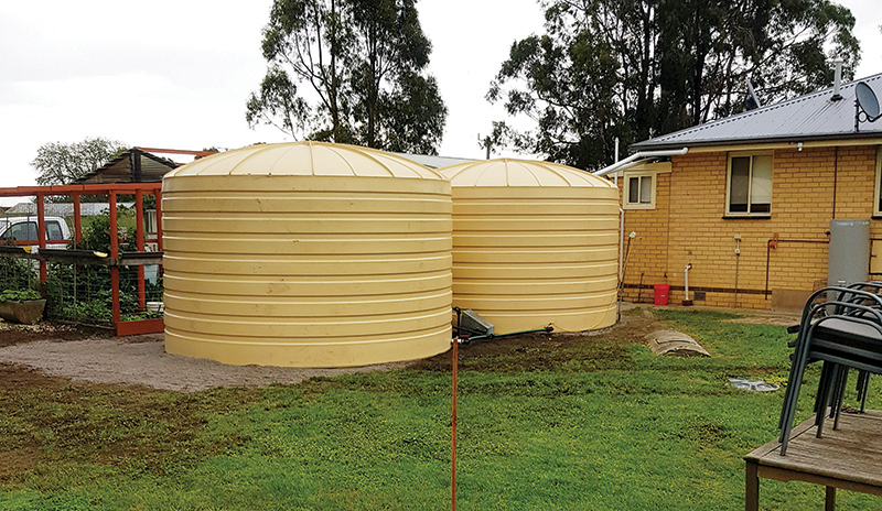 Poly Water Tanks Installed